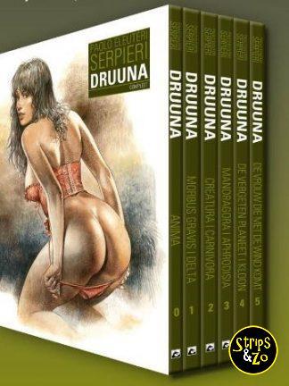 VOORINTEKENING Druuna – Integraal – Cassette met de delen 0 t/m 5