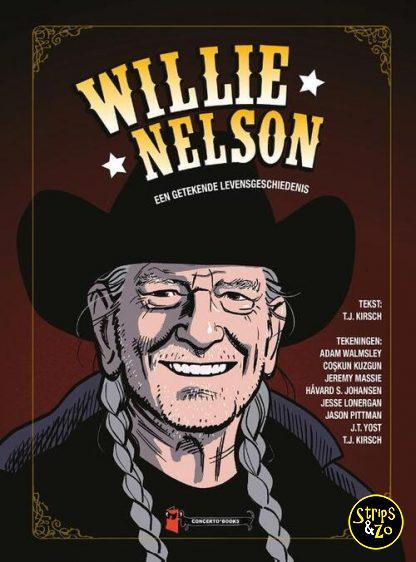 Willie Nelson een getekende levensgeschiedenis